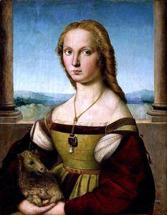 Lady with unicorn by Rafael Santi - Фарнезе, Джулия — Википедия