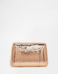ASOS BRIDAL Box Clutch Bag With Jewelled Clasp