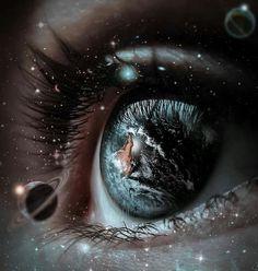 Pretty Eyes, Cool Eyes, Beautiful Eyes, Amazing Eyes, Galaxy Eyes, Galaxy Art, Galaxy Universe, Foto Fantasy, Fantasy Art