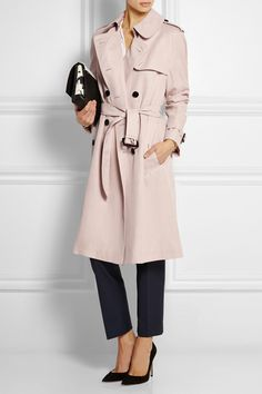 A Burberry London trench is an iconic spring look. This year's coat is updated in a fresh ice pink.