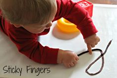 How different textures can help exercise fine motor skills in different ways....