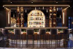 Restaurant Chalet, Deco Restaurant, Bar Interior Design, Restaurant Interior Design, Lounge Design, Bar Lounge, Design Design, Cocktail Bar Design, Home Bar Rooms
