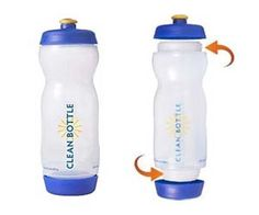 Easy Clean Water bottle:  It has detachable lids on the top and bottom!