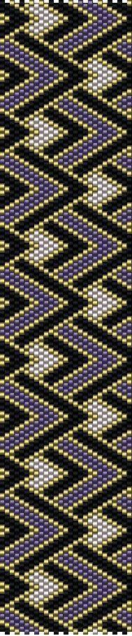 DIY Peyote Pattern - Purple Gold Black bracelet - Beaded Cuff Bracelet - PDF…