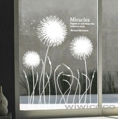 Dandelion flower -44inches high--Removeable Wall...