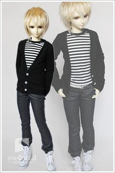 BJD doll clothes striped T + cardigan suit] 1/4.1/3. Uncle LUTS.DOD.AS.DZ.SD of baby clothes - Taobao 74.00
