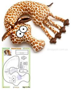 Giraffe neck pillow (sew) For inspiration Sewing Toys, Baby Sewing, Sewing Crafts, Sewing Projects, Felt Crafts, Fabric Crafts, Kids Crafts, Doll Patterns, Sewing Patterns