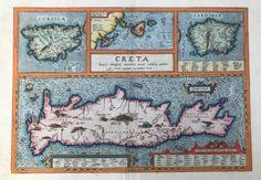 The Atlas, Orbis, Antique Maps, Corsica, Antwerp, Sardinia, Crete, Hand Coloring, Islands
