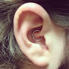 Daith Piercing done by Aaron Victory at The Bell Rose Tattoo & Piercing in Daphne, AL.