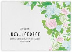 Peony Posy (Save The Date) - Paperless Post