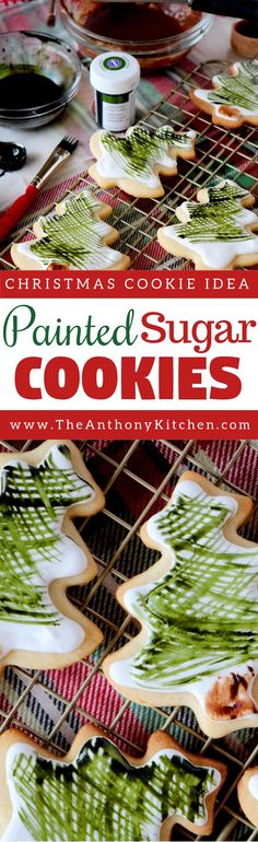 Christmas Cookies | A simple recipe for painting on royally iced sugar cookies | #christmas #royallyicedcookies #sugarcookies #recipe #decorativecookies