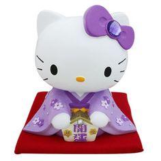 Sanrio Japan Hello Kitty Fortunate Ceramic Coin Bank