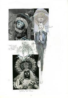 Fashion Sketchbook - fashion design drawings, ideas and inspirations; fashion design portfolio // 'Skin Flowers' - Evelina Romano