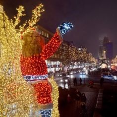 Christmas lights on Tauentzienstrasse in Berlin, Germany