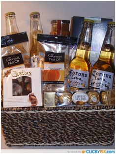 DIY Gifts For Boyfriend – Beer Baskets