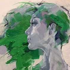 By Izumi Kogahara Figure Painting, Painting & Drawing, Portrait Art, Portraits, Abstract Painters, Beautiful Paintings, Face Art, Figurative Art, Art Images