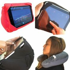 Travel Pillow with Tablet Holder....