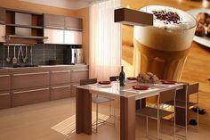 Кухня цвета капучино - аппетитные решения в обустройстве интерьера