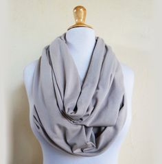 Super-size Nomad Infinity loop cowl / scarf - BEIGE - jersey, chain. $18.00, via Etsy.