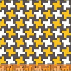 Lily Gonzalez - Farm to Fork - Houndstooth - Yellow : Sew Modern