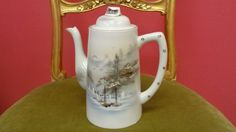 VINTAGE PORCELAIN  TEAPOT HAND-PAINTED MADE IN JAPAN
