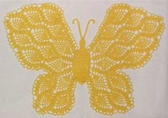 Picture of Beautiful Butterfly Doily Pattern Crochet Butterfly Free Pattern, Crochet Doily Patterns, Owl Patterns, Crochet Chart, Thread Crochet, Crochet Designs, Crochet Doilies, Crochet Flowers, Crochet Stitches