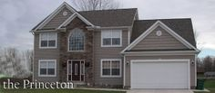 The Princeton Colonial...The Princeton is a modern, center-hall colonial home plan updated with modern features and curb appeal!... with stone/brick