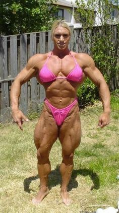SHE has muscles.