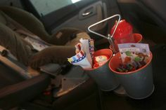 Great organization tips for a road trip with kids. Also some really awesome ideas for games for road trips.