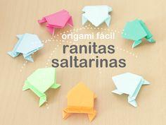Origami fácil: rana saltarina.  Jumping frog