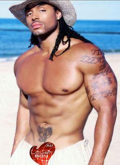 BLACK MEN ROCK..dark skin, long hair, muscles, and tats...oh!!