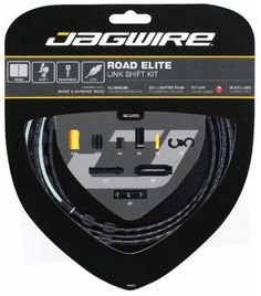 Bike Cables - Jagwire Road Elite Link Bicycle Shift Cable Housing Kit Black *** Be sure to check out this awesome product.