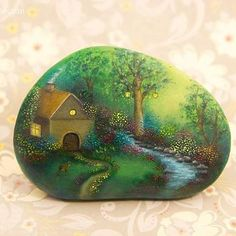 #wonderland #oil #painting #stones #paintedstones #handpainted #handmade #rock…