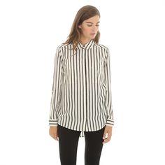 Pimkie.es : Código chic y femenino, nos fascina por completo esta blusa vaporosa a rayas.