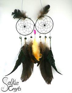 Black owl dream catcher.