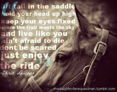 ... When you fall get right back up agin... Cowgirls don't cry