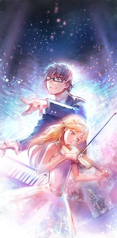 Top 10 Romance Anime || Your Lie In April ~ Kaori and Arima. Read More : http://www.animedecoy.com/2016/02/top10romanceAnime.html