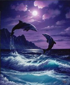 Joey Brumbaugh uploaded this image to 'Ocean-Pictures/Dolphins'. See the album on Photobucket. Orcas, Beautiful Creatures, Animals Beautiful, Dolphins Tattoo, Dolphin Art, Dolphin Painting, Water Animals, Wale, Delphine