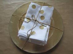 DIY glitter napkins