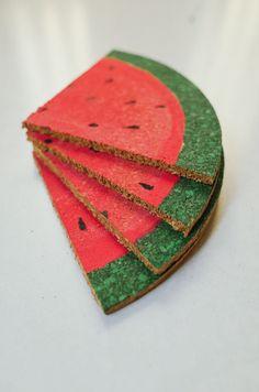 How to make watermelon coasters - Kittenhood