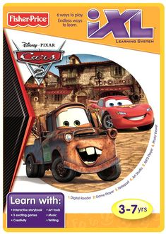 Fisher-Price iXL Learning System Software Disney/Pixar Cars 2 Brand New