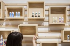 I like the idea of modular shelving for the retail space. Diy Furniture, Furniture Design, Modular Shelving, Retail Space, Wooden Shelves, Retail Design, Store Design, Home Projects, Diy Home Decor