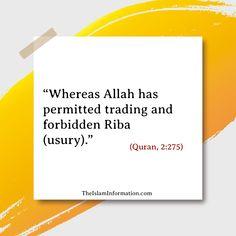 interest is the biggest sin in Islam. #Islam #Quran #Hadith #Allah #Muhammad Islamic Information, Islam Quran, Hadith, Muhammad, Allah, Cards Against Humanity, God, Allah Islam