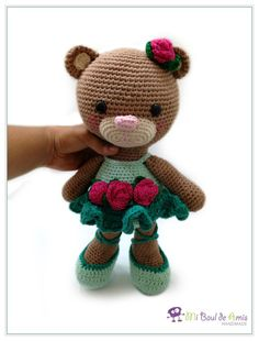 Crochet Ballerina Bear Amigurumi Ballet Doll por MiBaulDeAmis Crochet Toys Patterns, Amigurumi Patterns, Stuffed Toys Patterns, Crochet Dolls, Crochet For Kids, Crochet Baby, Crochet Ideas, Cute Toys, Amigurumi Toys