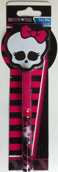 #Stylo bille et carnet Monster High. #MonsterHigh