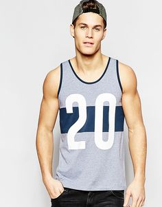 Image 1 ofASOS Vest With Printed Cut & Sew And Relaxed Skater Fit