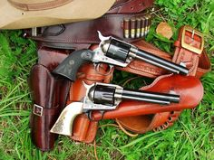A brace of Colt Single Action Army revolvers