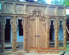 Gebyok Ukir 4,5 Meter- traditional Javanese Gebyok- 450 cm. Probably for a stage or a wedding set.
