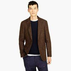 men s ludlow blazer in herringbone english tweed - Brown- size 42 7f468a67066c