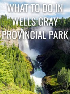 "Wells Gray Provincial park (British Columbia, Canada) is known as ""Waterfall Park"". And who loves waterfalls? British Columbia, Columbia Road, Columbia Travel, Canada Travel, Travel Usa, Canada Trip, Visit Canada, Nova Scotia, Newfoundland"